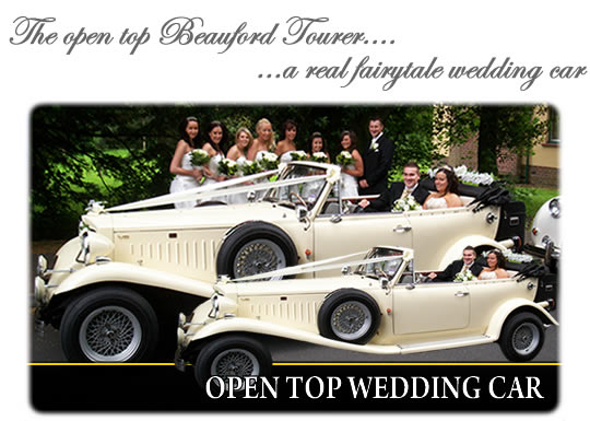 Open top wedding car